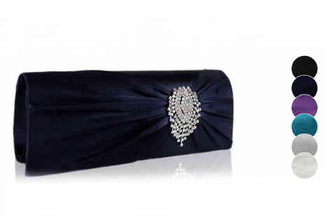 Pearl Info - Satin Clutch Bag Six Colours - Save 72%