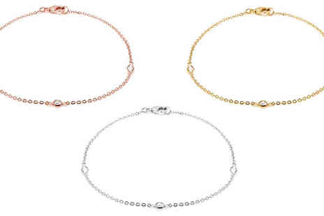 Lily Spencer - 18K Gold Plated Anklet with Crystals From Swarovski - Save 84%