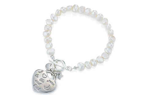 pearlshed - To the Moon and Back Bracelet - Save 73%