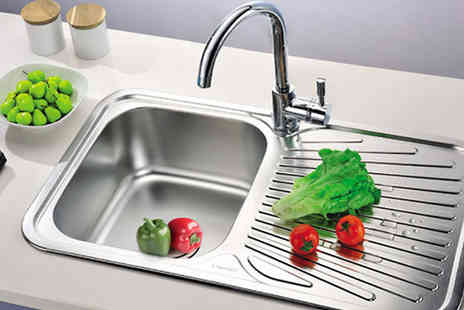 Comxuk - One Litre Stainless Steel Kitchen Sink - Save 65%