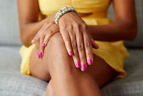Blo Out and Refresh - Gelish Manicure or Pedicure - Save 0%
