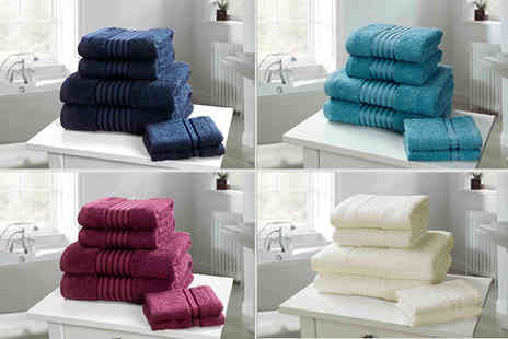 Linens R Us - Six piece Egyptian cotton towel bale choose from 12 colours - Save 67%