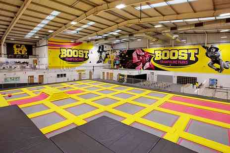 Boost Trampoline Parks - One or Two Trampoline Access for Up to Four - Save 25%