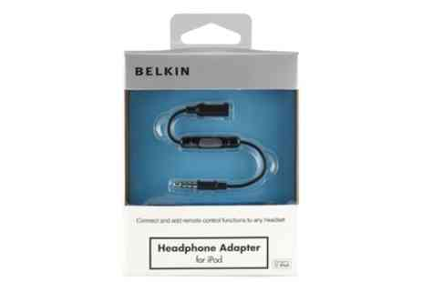 Groupon Goods Global GmbH - Belkin Headphone Adaptor for iPod or iPhone - Save 23%