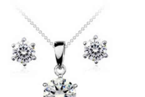 Clear Crystal - Pair of sterling silver & Swarovski Element earrings - Save 84%
