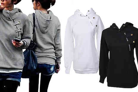 Marcus Emporium - Staple Winter Hoodie With Zip Detail in 3 Colours - Save 68%