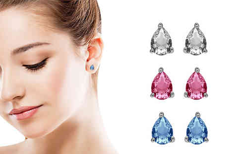 Lily Spencer - Set of Teardrop Earrings Made With Crystals From Swarovski - Save 80%