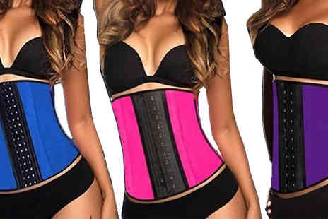 Shapelle - Cleavage Enhancing Corset Available in Three Colours - Save 89%