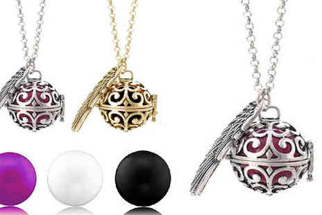 ugoagogo - 9K Gold or Silver-Plated 'Guardian Angel' Necklace Available in Three Colours - Save 77%