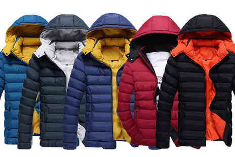 Bazaar me - Padded Mens Coat Choose from Five Colours - Save 78%