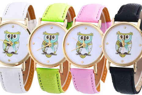 Trendy Banana - Kids Owl Watch in 4 Colours - Save 78%