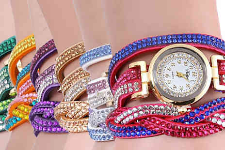 Trendy Banana - Catherin Wrap Watches Available in Six Colours - Save 82%