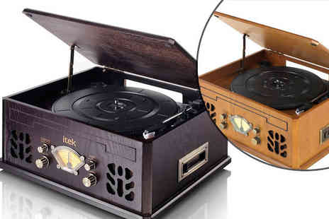 Internet Shop - Retro Style Music System Choose from Two Colours - Save 55%
