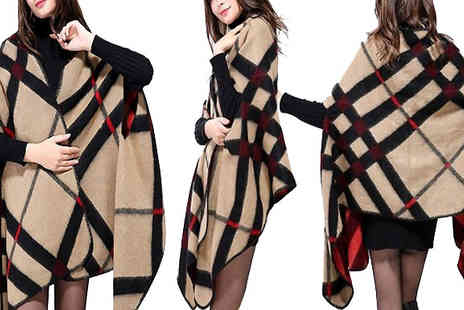 Shapelle - Oversized Plaid Scarf - Save 50%