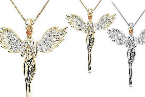Marcus Emporium - Guardian Angel Necklace With Crystals From Swarovski - Save 94%