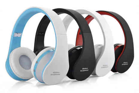 eFindbest - Foldable Wireless Bluetooth Headset Choose from Four Colours - Save 63%
