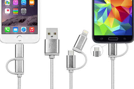 Ckent - Two in one charging cable available in one, two or three metre lengths - Save 63%