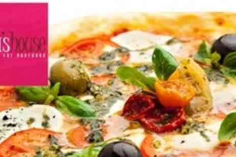Sonia's House - Two Course Large Pizza Meal For Four - Save 56%