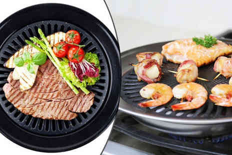 H&C Electronics - Smokeless Indoor BBQ Grill - Save 78%