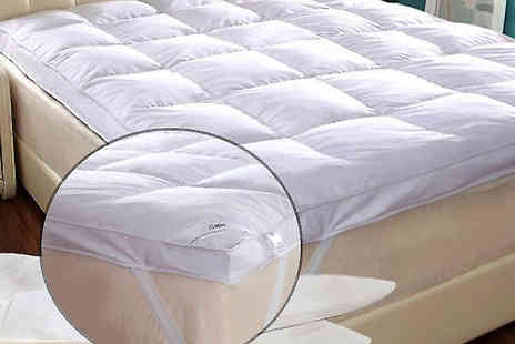Fusion - Thick Goose Feather and Down Mattress Topper Three Sizes - Save 69%