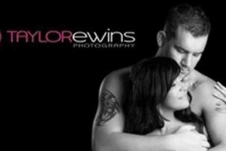Taylor Ewins Photography - Boudoir or Couples Photo Shoot, With Makeover, Framed Print and Bubbly - Save 94%
