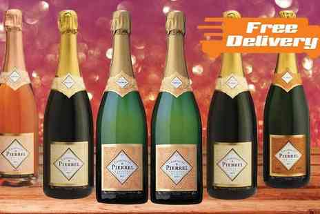 karpe deal - Six Bottles of Robert Pierrel Champagne With Free Delivery - Save 70%