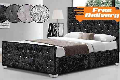 Limitless Base - Georgio Designer Bed Two Sizes Four Colours - Save 77%