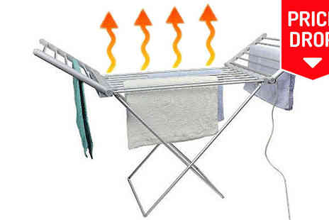 Hot Buys - Extra Large Electric Clothes Airer 18 Racks - Save 58%
