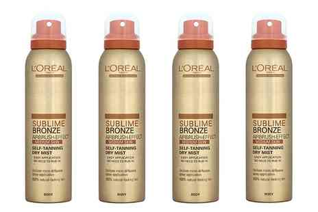 Groupon Goods Global GmbH - LOreal Sublime Bronze Airbrush Effect Self Tanning Dry Mist 150ml - Save 67%