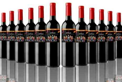 The Vineyard Club - 12 Bottles or 16 Bottles of Oak Spanish Red Wine With Free Delivery - Save 64%