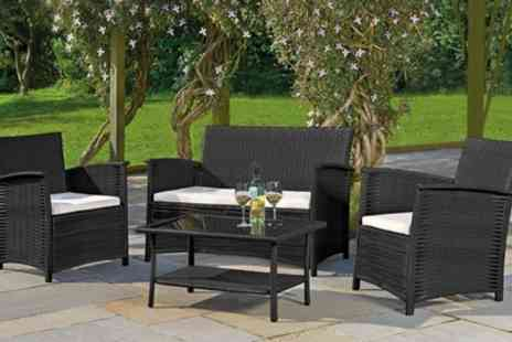 Groupon Goods Global GmbH - St Kitts Rattan Effect Furniture Set with Cover Include Free Delivery - Save 58%