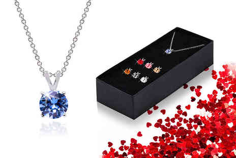 The Gemseller - Set of seven round crystal necklace pendants - Save 91%
