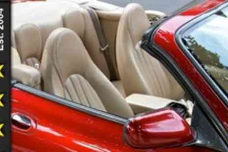 The Five Star Wash - Express Valet and Wheel Restore or Full Valet With Wax, Interior Shampoo and Leather Clean - Save 77%