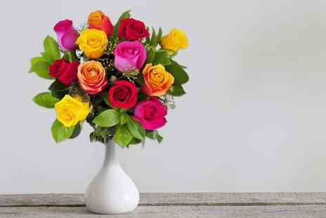 KNPH - Luxury bouquet of six mixed roses - Save 48%