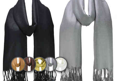 Pearl Info - Pashmina style scarf choose from six colours - Save 89%