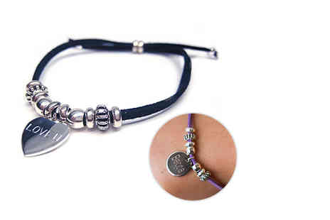 Aye Do - Personalised India bracelet choose from eight colours - Save 56%