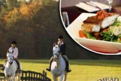 Pinkmead Farm Equestrian Centre - Horse Riding For Two With Two Course Lunch - Save 54%