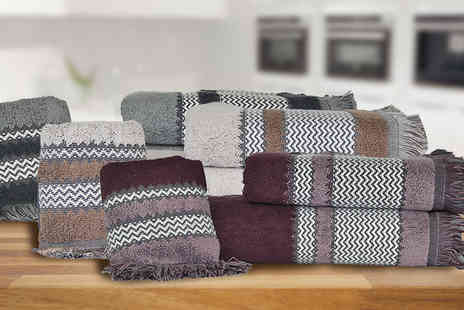 karpe deal - Fringed Tartan Tea Towel Set Available in Three Colours - Save 23%