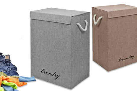 Fusion - Large Laundry Basket Two Colours - Save 67%