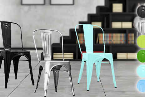 ohmy deal - Industrial Steel Chairs Available in Six Colours - Save 59%
