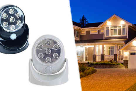 Megastore 247 - Seven Led Cordless Motion Sensor Security Light Available in Two Colours - Save 0%