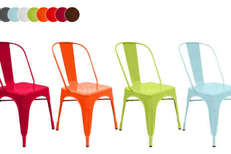 ohmy deal - Retro Style Industrial Chair Available in Nine Colours - Save 59%