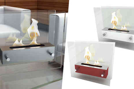 ohmy deal - Bio Ethanol Fireplace Available in Three Colours - Save 85%