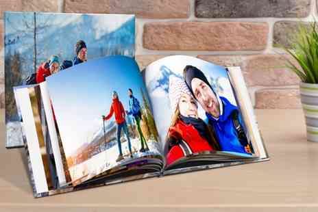 Printerpix - 20, 40 or 60 Page Hardcover Square Photobook - Save 86%