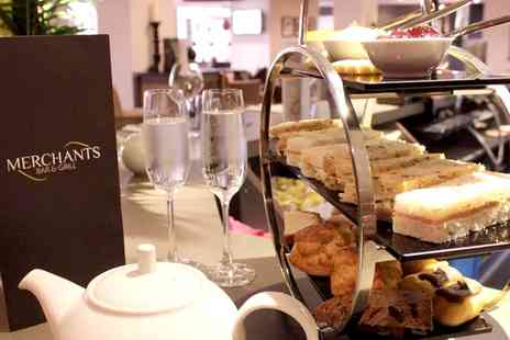 Samlesbury Hotel - Afternoon Tea for Two or Four with a Glass of Bubbly Each - Save 47%