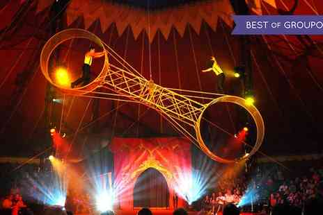 Gandeys Thrill Circus - Grandstand Ticket to Gandeys Thrill Circus on 3 March To 8 April - Save 63%