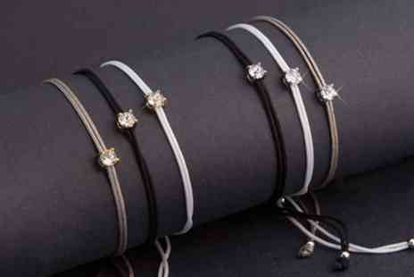 Neverland Sales - Gold Plated Triple Bracelets with Crystals from Swarovski Include Free Delivery - Save 50%