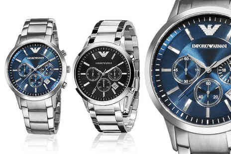 Wristy Business - Armani Mens watch choose from two designs and save 56% - Save 56%