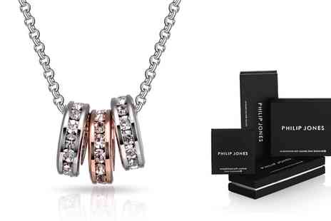 Groupon Goods Global GmbH - Triple Hoop Necklace with Crystals from Swarovski - Save 66%