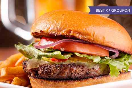 Burgerworks - Beef Burger with Choice of Topping and Fries for Up to Four - Save 39%